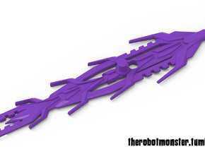 Brute Sword, 5mm Weapon in Purple Strong & Flexible Polished