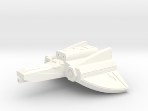 Mace Ground Attack Fighter in White Strong & Flexible Polished