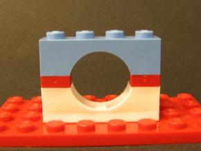 Arch Brick Reversed 4 x 2 x 1 in White Strong & Flexible