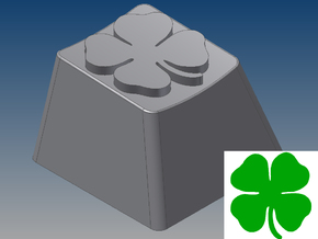 Four-Leaf Clover Keycap (R4, 1x1) in White Strong & Flexible