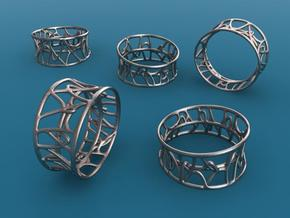 Arabesque ring in Stainless Steel