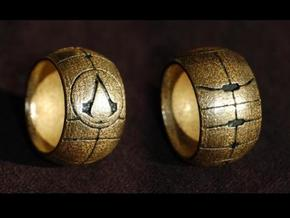 Apple of Eden Assassin Ring in Black Strong & Flexible