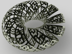 Spiral Gylph Torus in White Strong & Flexible