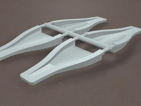 1/8th 4 Inch NACA Duct in White Strong & Flexible