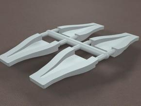 1/8 Scale 2 inch NACA Ducts in White Strong & Flexible