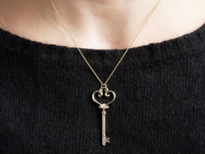 Antique Key Pendant in 14K Gold