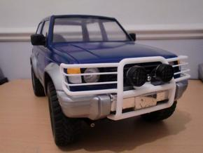 Tamiya Pajero front guard in White Strong & Flexible