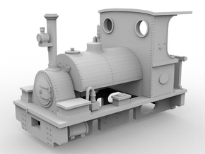 PBR Peckett(O/1:48 Scale) in White Strong & Flexible