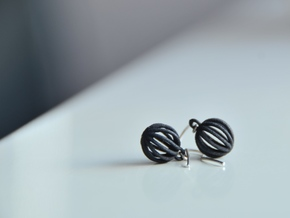 Earring01 in Black Strong & Flexible