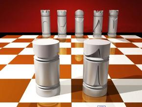 CHESS ITEM PE�O / PAWN in White Strong & Flexible