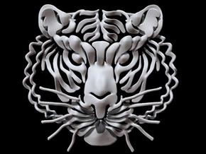 Tiger's head in White Strong & Flexible
