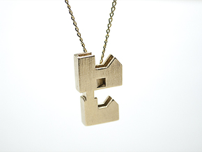 """Forever Home"" Necklace in Raw Brass"