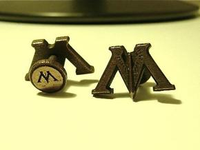 Harry Potter Ministry of Magic Cufflinks in Polished Bronze Steel