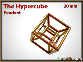 The Hypercube Pendant in Stainless Steel