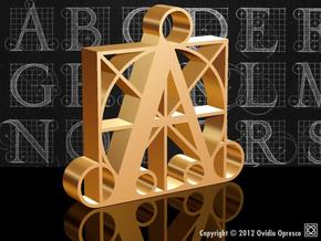 A - DURER (300%) in Polished Gold Steel