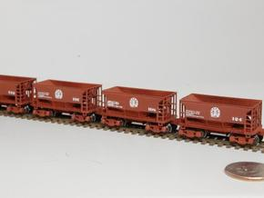 Z 70 ton ore jenny, Six Pack w/couplers in Frosted Ultra Detail