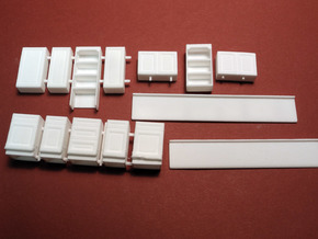 1:48 Farmhouse Cabinet Kit in White Strong & Flexible