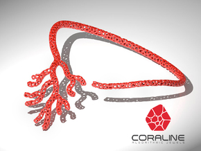 Red Coral Necklace in Red Strong & Flexible Polished