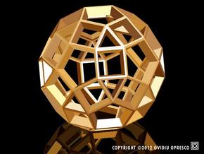 Polyhedral Sculpture #28A in White Strong & Flexible
