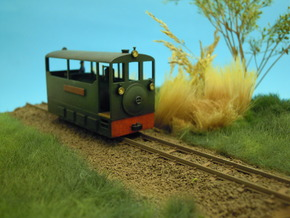 Freelance H0e tramway loco in Frosted Ultra Detail