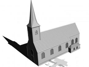 1/350 Village Church in White Strong & Flexible