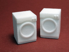 1:48 Front Load Washer/Dryer in White Strong & Flexible