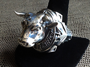 El Toro Magnifico - Size 12 1/2 (21.79 mm) in Polished Silver