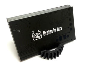 Gear Business Card Holder - Plastic in Black Strong & Flexible
