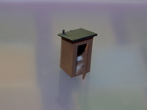 N-Scale Slant Roof Outhouse in Frosted Ultra Detail