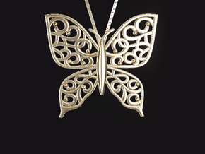 Arabesque-batafly in 14K Gold