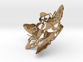 Butterfly Bowl 1 - d=9cm in Polished Brass
