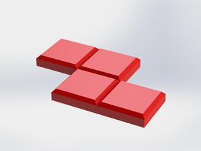 Red Zigzag Coaster in Red Strong & Flexible Polished