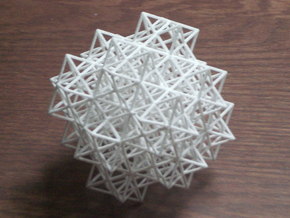 Escher's solids filling space in White Acrylic