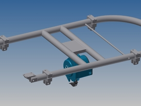 1:4 Cargo Hook Frame & Cargo Hook in White Strong & Flexible