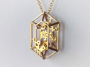 Rupee Pendant in Polished Brass