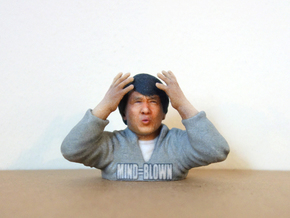 Jackie Chan Mind Blown meme 3D print. in Full Color Sandstone