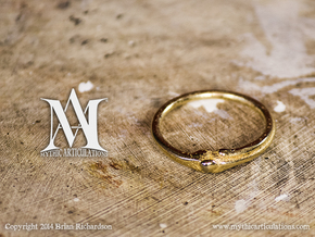 Leg Bones Ring Size 6 in Polished Gold Steel