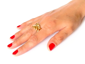 SPIGA Ring US Size 8 (18.2 mm) in Polished Bronze