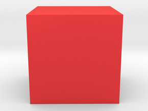 Cube in Red Strong & Flexible Polished
