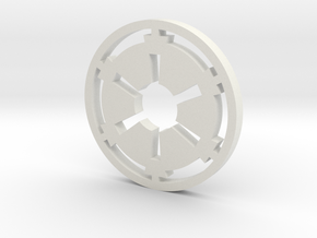 Galactic Empire Symbol Blade Plug Insert in White Strong & Flexible