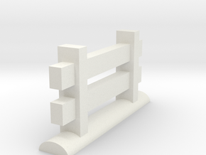 Miniature Fence Piece in White Strong & Flexible