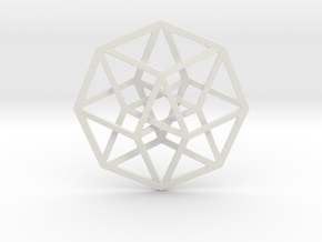 4D Hypercube (Tesseract) in White Strong & Flexible
