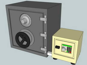1:87 safes 2 pcs. - Tresore 2 Stk. in Frosted Ultra Detail