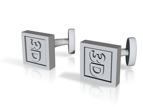 Custom cufflink nr.15 in Metallic Plastic