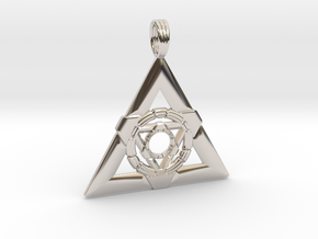 TEMPLE OF LIGHT in Rhodium Plated