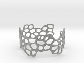Cells Bracelet (open, 64mm) in Metallic Plastic