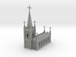 N Scale Church Cathedral 1:160 in Metallic Plastic