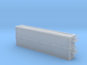 Trash Gondola Double Stack 53foot - Nscale in Frosted Ultra Detail