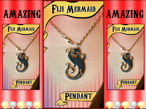 Fiji Mermaid Pendant in Polished Silver