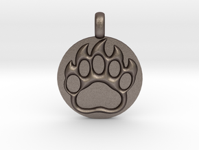 BEAR PAWN Animal Totem Jewelry pendant  in Stainless Steel